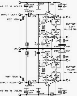 Low Cost Watt Stereo Amplifier Tda Circuit Diagram