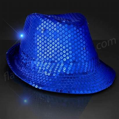 Fedora Sequin Hats Hat Led Flashingblinkylights Spinning