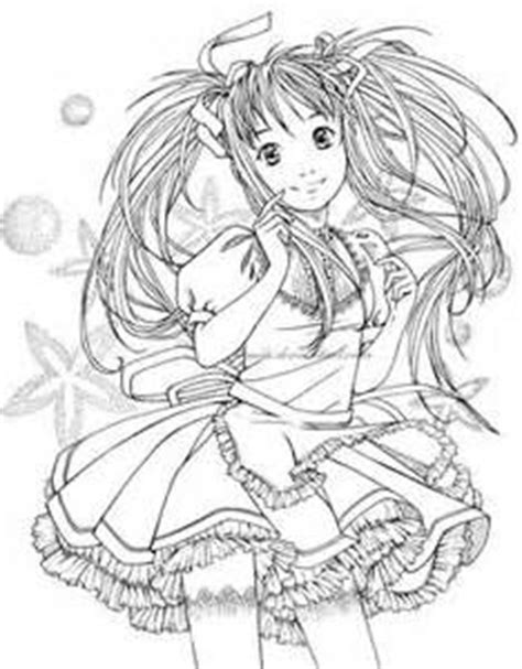 cute anime coloring pages bing images adult coloring