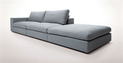 Modern Modular Sofas Light Blue Modular Sofa With Left Arm