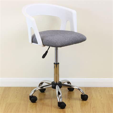 white grey adjustable swivel desk chair stool home