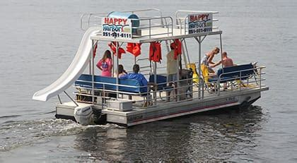 Cheapest Small Pontoon Boats by Happy Harbor Marina And Watersport Rentals