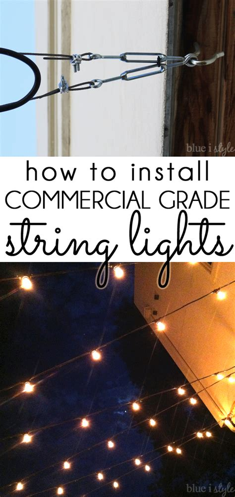 how to hang string lights on fence outdoor style how to hang commercial grade string lights