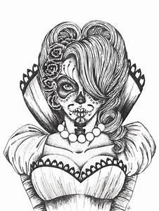 Pin Girl Sugar Skull Tumblr on Pinterest