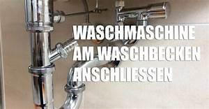 Waschmaschine Abfluss Anschluss : waschmaschine am waschbecken anschlie en montage zubeh r ~ Buech-reservation.com Haus und Dekorationen