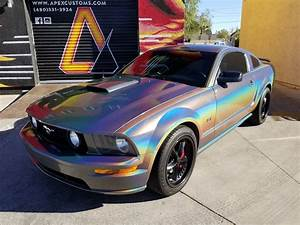 Ford Mustang GT Full Wrap using: 3M Gloss Psychedelic Avery Dennison Gloss Carbon #vinylwrap # ...