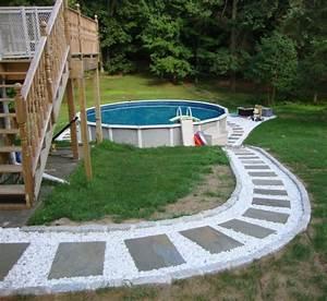 piscine hors sol les top 5 avantages et idees en photos super With attractive jardin paysager avec piscine 10 amenagement exterieur