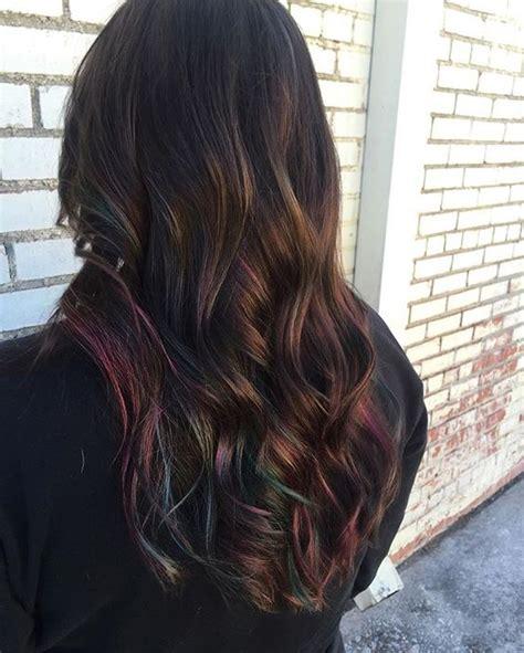oil slick hair  epic  rainbow hair technique