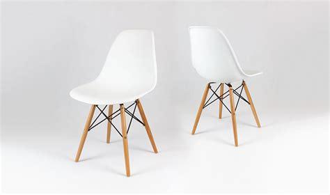 bureau style industriel chaise design blanche avec pieds en bois inspir du style