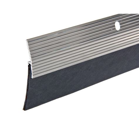 king door sweep king e o 2 in x 36 in silver reinforced rubber