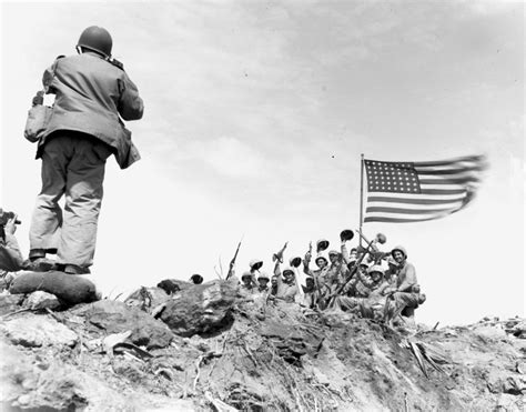 70 Years Ago, Marines Raise Flag On Iwo Jima