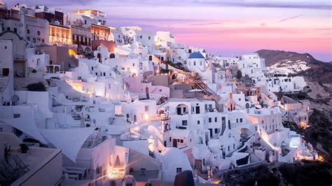 fonds decran grece maison thira aegean villes telecharger