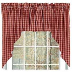 Country Curtains Sturbridge Hours by Heritage House Check Swag