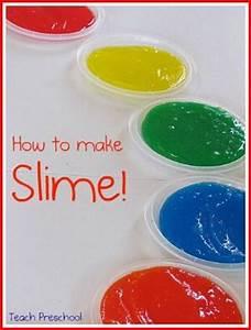 Rainbow slime in preschool