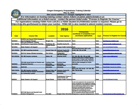 sample training calendar templates  google docs