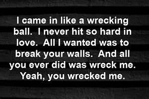 Miley Cyris - Wrecking Ball - song lyrics, song quotes ...