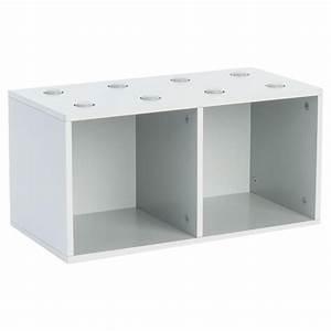Meuble De Rangement Cube : meuble de rangement empilable 2 cubes abc gris ~ Melissatoandfro.com Idées de Décoration
