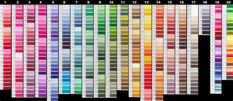 dmc color chart pdf fly tying material dmc embroidery floss for midge
