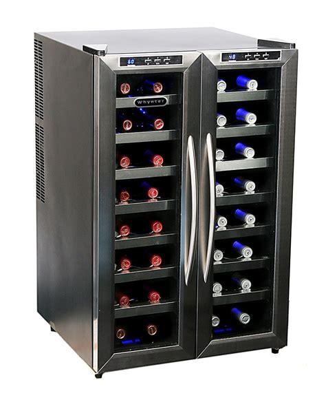 undercounter beverage center whynter wc 321dd 32 bottle dual temperature zone wine
