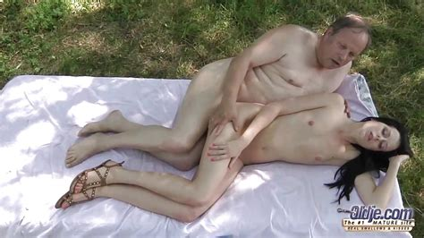 Old Young Romantic Sex Outdoor Old Man Beautiful Teen