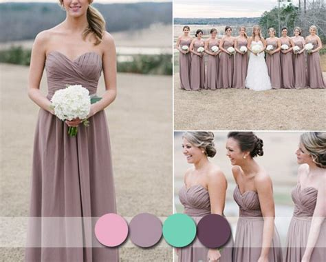 Mauve Bridesmaid Dresses On Pinterest Stone Bridesmaid