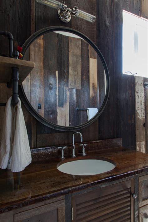 bathroom mirror  rustic wood vanity hgtv