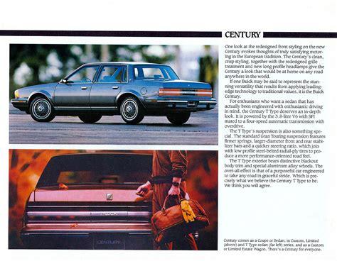 old car manuals online 1986 buick century instrument cluster 1986 buick century brochure canada