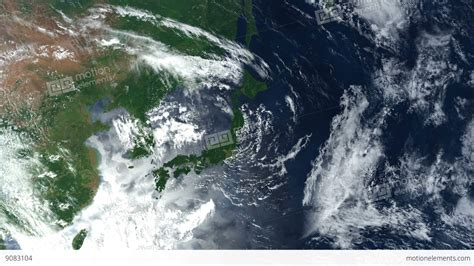 Japan From Space Japanese Islands Zoom Earth From Space