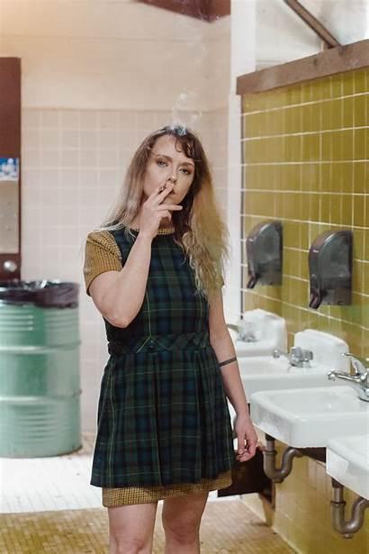 Smoking Mother Woman Bathroom Medium Let Smoke