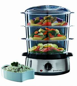 Russell Hobbs 19270 Cook At Home 800W 9L 3-Tier Food ...