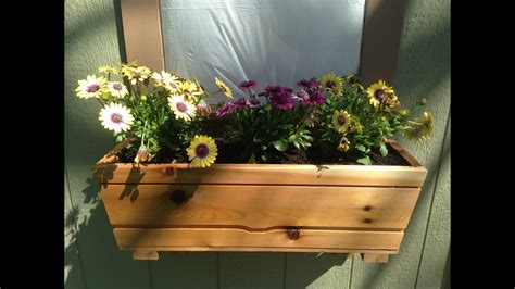 cedar window box youtube
