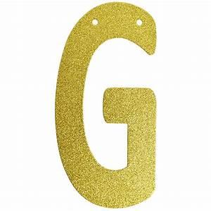 glitter letter banner garland 6inch gold letter g With glitter banner letters