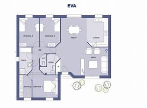 maison moderne plain pied 4 chambres plan maison moderne With plan maison plein pied 120m2