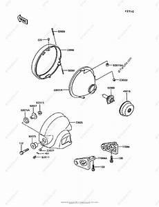 Kawasaki Motorcycle 1994 Oem Parts Diagram For Headlight S