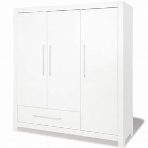 Armoire Dressing Blanche : armoire chambre blanche armoire 3 portes longueur x ~ Premium-room.com Idées de Décoration