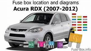 Fuse Box Location And Diagrams  Acura Rdx  2007-2012