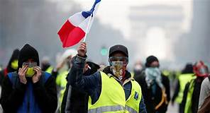 "New ""anti-breakers law"" forbids French citizens' to protest with any kind of face/breathing protection or be jailed…"