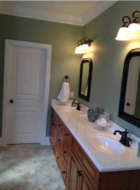 sherwin williams clary sage paint color   bathroom