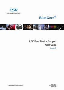 Adk Peer Device Support User Guide