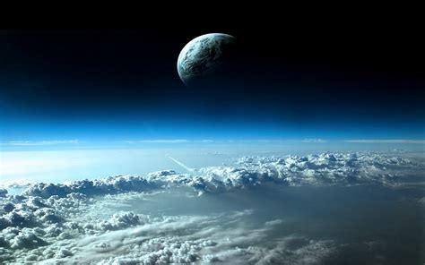 Background Space Moon Earth Wallpaperart