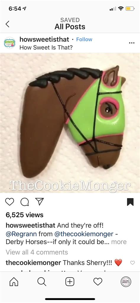 derby horse cookies iced sweet