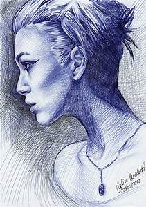 Drawn fashion ballpoint - Pencil and in color drawn ...