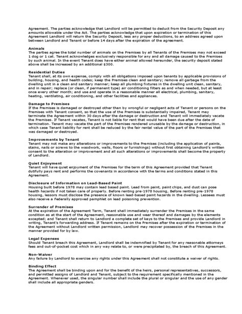 month  month room rental agreement landlord template