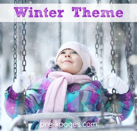 winter theme activities  preschool