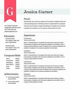 Resume Template The Garner Resume Design Instant