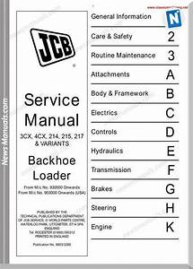 Jcb 3cx 4cx 214 215 217 Workshop Manual