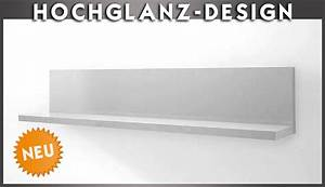 Regal Hochglanz Weiß : neu hochglanz wandboard weiss wandregal regal b cherregal wohnwand paneel ebay ~ Frokenaadalensverden.com Haus und Dekorationen