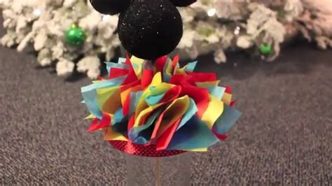 diy mickey mouse centerpiece youtube