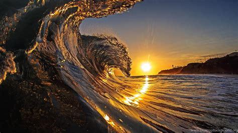 Sunset Surf Wallpaperhawaii Hd Wallpaperbeach Hd