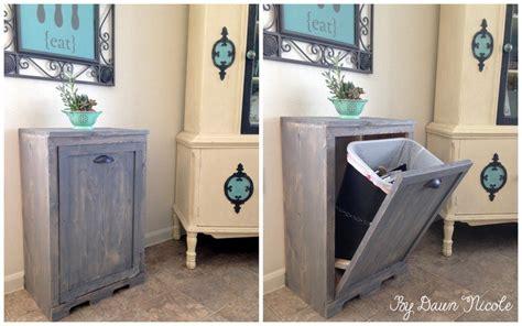 wood tilt out trash cabinet wood tilt out trash can cabinet dawn nicole designs